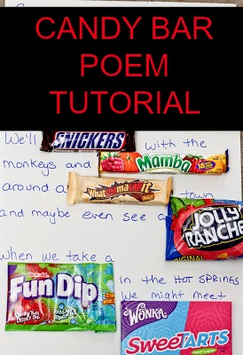 candy bar travel poetry tutorial - just short of crazy, Ideas