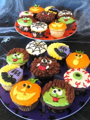 decorating halloween cupcakes - Halloween Decorations Cupcakes