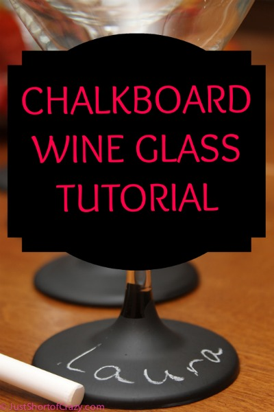 Chalkboard Wine Glasses Tutorial