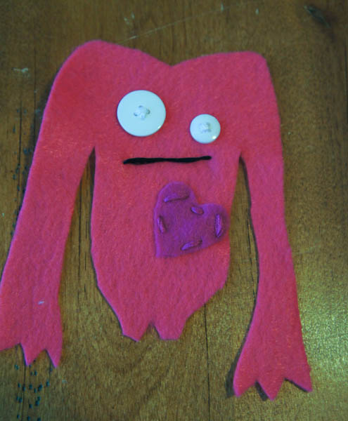 make your own felt monster