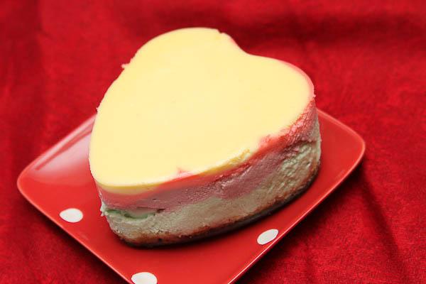 conversation hearts cheesecakes
