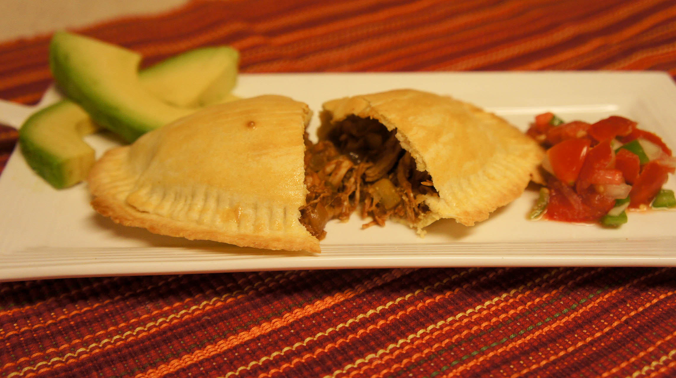 Chicken Mole Empanadas - Just Short of Crazy