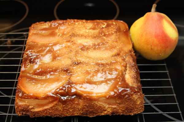 Pear Crunch Coffee Cake - Just Short of Crazy