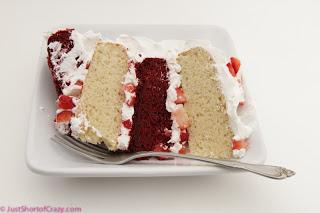 red velvet, vanilla, strawberry layer cake-11