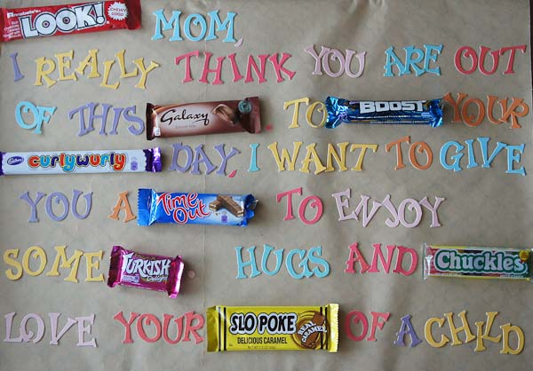 Mother's Day Candy Bar Poem