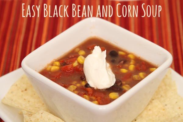 black bean & corn soup
