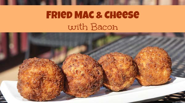 Fried Mac & Cheese with Bacon | Recipe - Just Short of Crazy