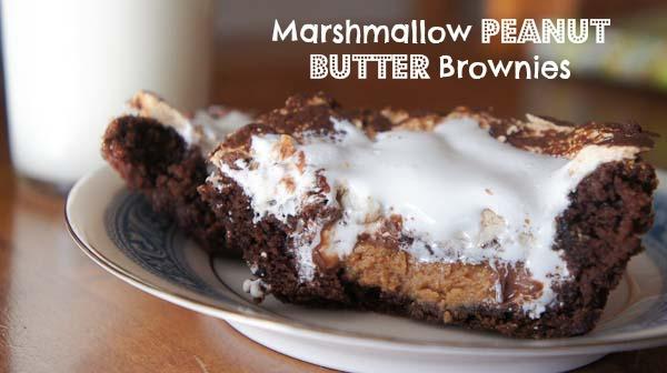 Marshmallow Peanut Butter Brownies