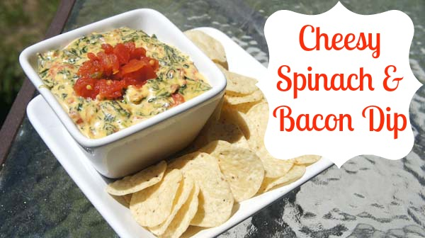Cheesy Spinach & Bacon Dip Recipe #VelveetaRecipes