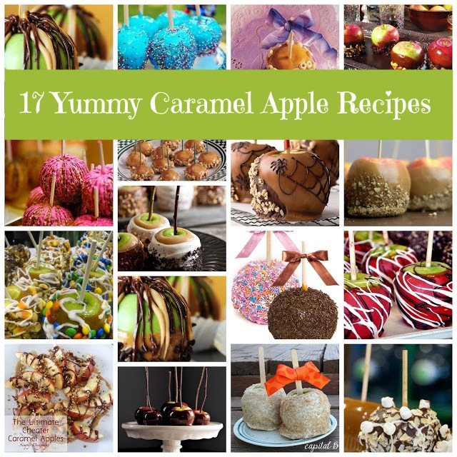 17 Yummy Caramel Apple Recipes from Just Short of Crazy