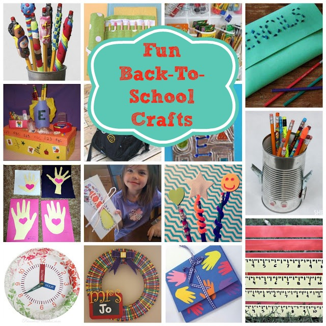 Back To School Crafts For Kids - Just Short of Crazy