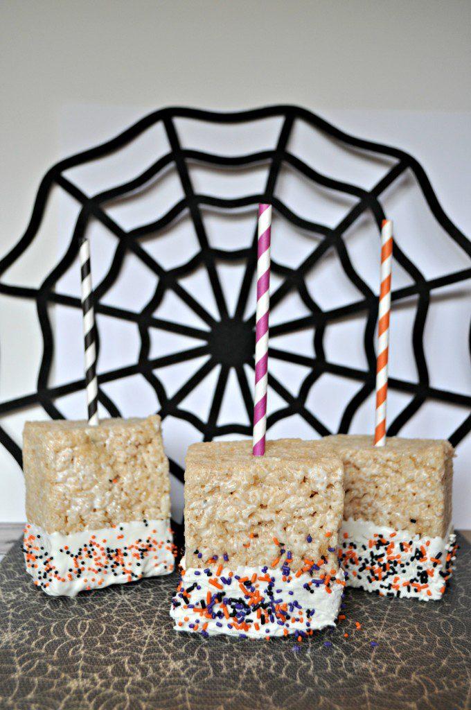 Halloween Rice Krispies Pop